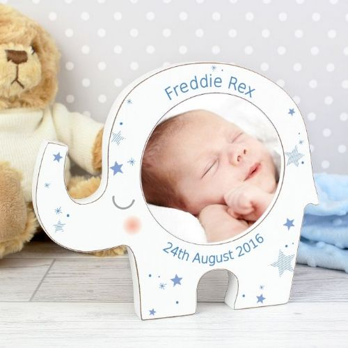 Personalised Boys Elephant Photo Frame